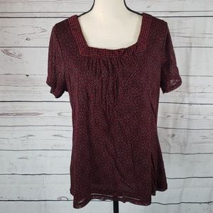 3 for 20 Croft&Barrow cute lined top size 1X